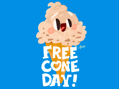 Ben & Jerry's | Free Cone Day sketch love illustration drawing draw design cute comic color cartoon illustration cartoon character cartoon