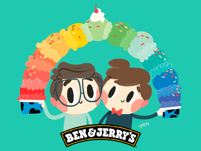 Ben & Jerry's | Every Flavor in the Rainbow sketch love illustration drawing draw design cute comic color cartoon illustration cartoon character cartoon