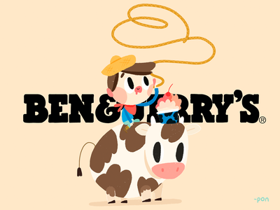 Ben & Jerry's | Yeehaw! sketch love illustration drawing draw design cute comic color cartoon illustration cartoon character cartoon