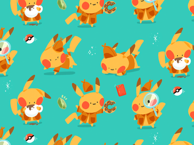 Pika-pika! sketch pokemon illustration fanart drawing draw doodle design cute color character cartoon