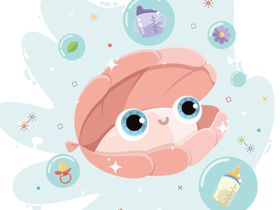 Clam product color design character illustration animal water