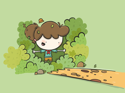 The Road Not Taken sketch comic colorful color cute cartoon design character illustration