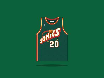 #20 Gary Dwayne Payton 1990 — 2003 payton seattle sonics basketball
