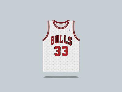 #33 Scottie Pippen 1987 — 1998 nba pippen bulls basketball