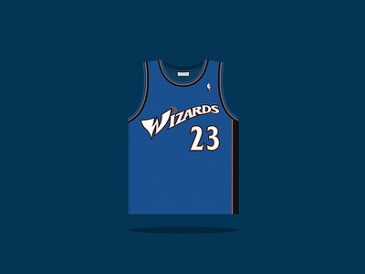 #23 Michael Jordan 2001 — 2003 nba washington wizards basketball