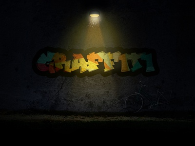Graffiti Wall shadow grunge bicycle wall light night graffiti
