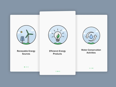Onboarding UI - Eco Based App eco friendly onboarding environment energy water