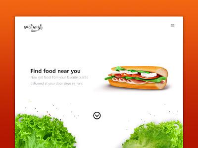 Homepage UI for Food ui practice landing page food burger sandwich