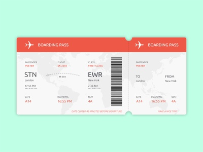 Daily UI Challenge 02 - Boarding Pass boarding pass dailyui airport ui airlines tickets travel qr pass destination boarding