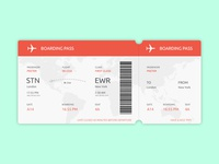 Daily UI Challenge 02 - Boarding Pass