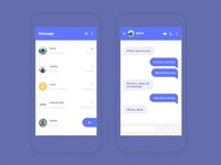Daily UI Challenge 03 - Chat Screens