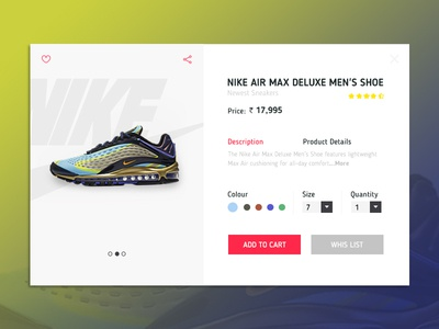 Daily UI Challenge 05 - Ecommerce Product Page website banner website home page online shop sneakers product page shoes e-commerce ui shopping ecommerce