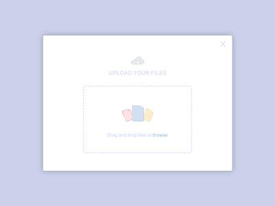 Daily UI Challenge 06 - File Upload icons card app dailyui files drop drag upload files web ui file upload design illustration