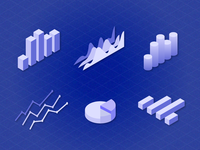 Daily UI Challenge 09 - Isometric Charts And Graphs