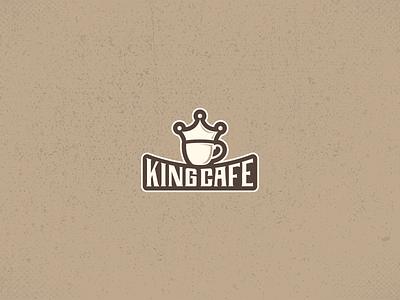 Daily UI Challenge 11 - Kingcafe Logo dailyui design shop coffee kingcafe tipography restaraunt mark twain logostyle y logo cafe branding