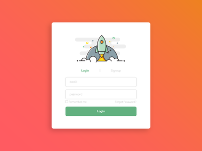 Daily UI Challenge 12 -  Login and Sign up screen web mobile app ux login interface dailyui login page login ui sign up sign in minimal illustration ui login