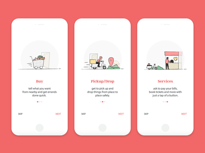 Daily UI Challenge 15 - Onboarding Ui Screens onboarding screens onboarding design app mobile dailyui ui illustration