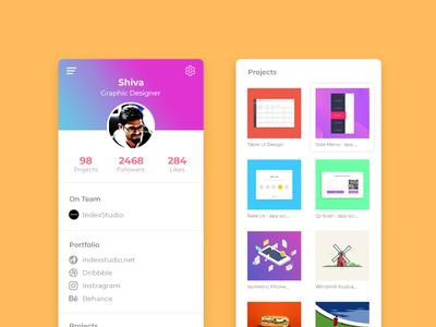 Daily UI Challenge 21 - User Profile design profile page portfolio design portfolio user profile branding mobile ux app dailyui ui