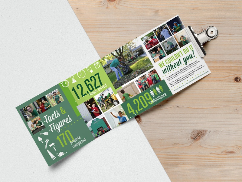 quad fold brochure for good neighbor weekend at northview by kara