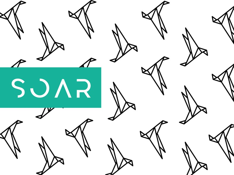 Soar - Pattern Design soar origami bird origami bird simple clean illustration branding logo design logo design minimal graphic design