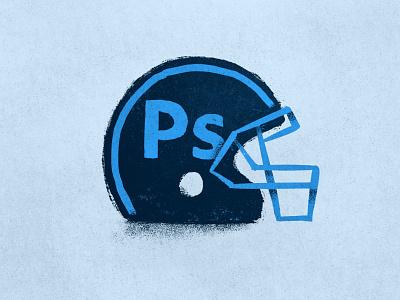 Go Adobe Photoshoppers! graphic design illustration nfl sports fantasy icon helmet football photoshop adobe
