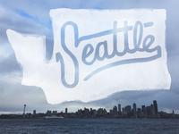 Seattle, WA - Watercolor