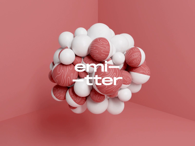 Emitter - Experiment n2 3d 3d animation 3d art animation cinema 4d c4d octane octane render design illustration after effects graphic design balls ball emitter color texture red motiongraphics motion