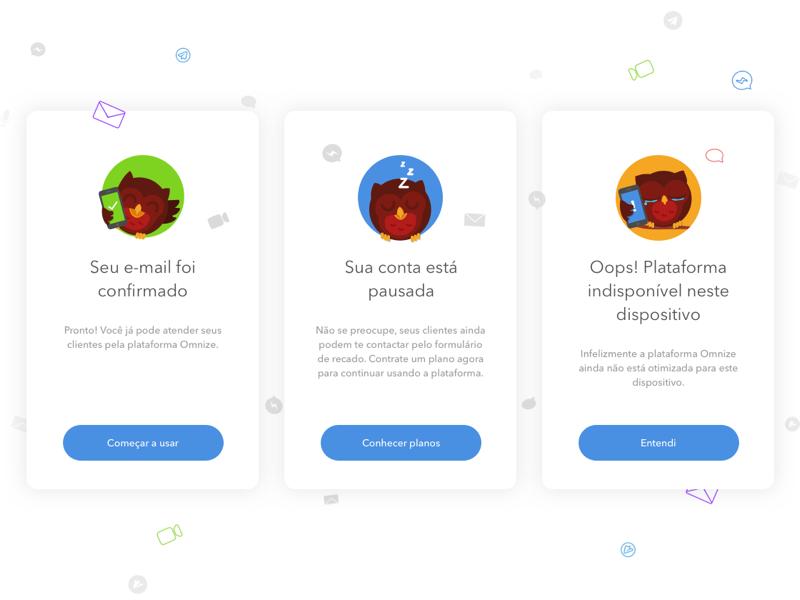 Omnize - Modals modal message ios icon help blue error mascot owl platform