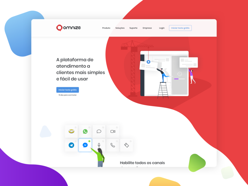 Omnize 2019 mascot chat design illustration branding omnize homepage design interface design website concept