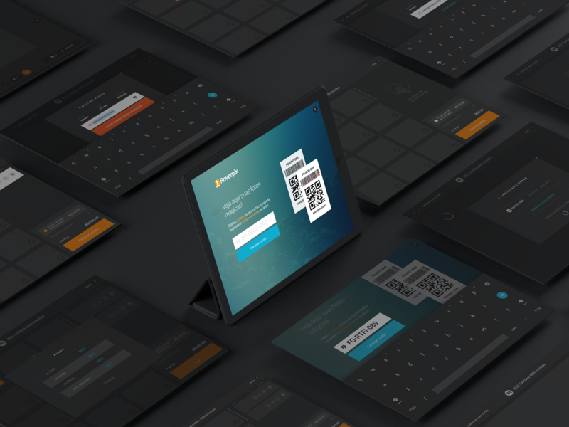Roverpix App design system ux design interface design studio photo app dark tablet app
