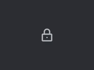 Open lock animation dark ui icon unlock ui design motion after effects lock micro-interaction animation