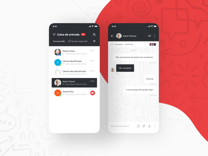 Multichannel Messenger App inbox messenger conversation user experience interface ui app design chat mobile
