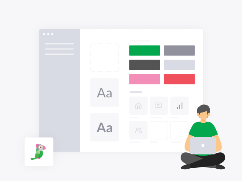 tawk.to Design System app library style guide pattern visual design uidesign consistency white grey green system design system design