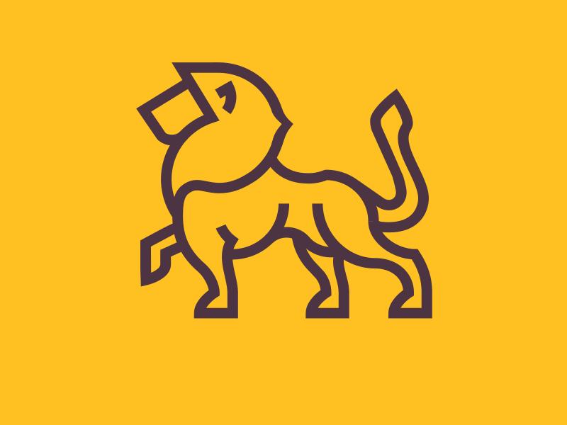 Yellow lion logo - photo#40
