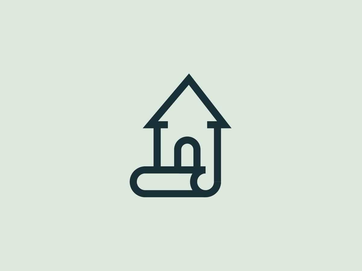 House Logo 2/3 minimal flat uruguay brandlogo illustration creativity icon xreative pixel graphic logodesign brand logo casa