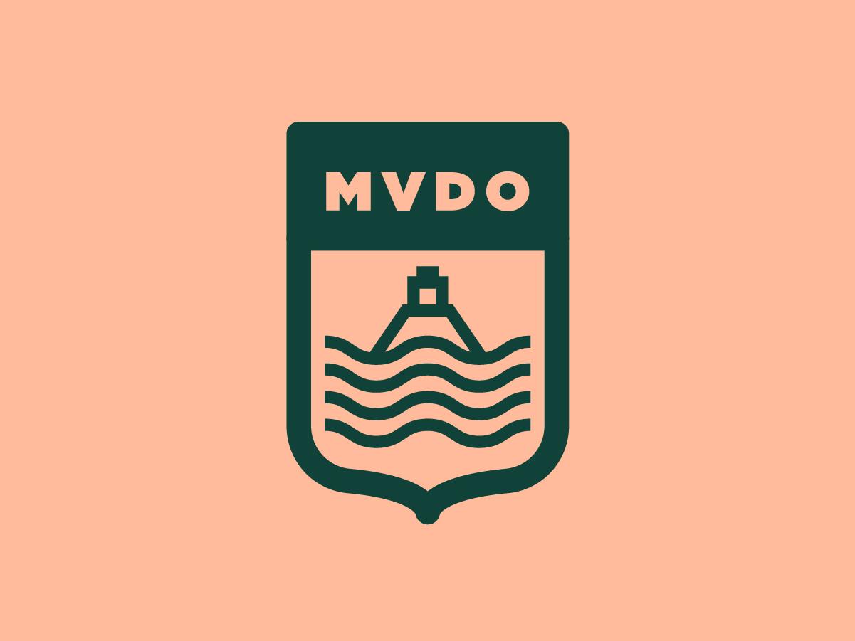 Montevideo Escudo badge fertaleza logo flat state illustration lineal simple branding brand shield logo minimal shield montevideo escudo