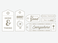 Travel Theme Stamps