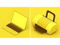 Laptop + Printer