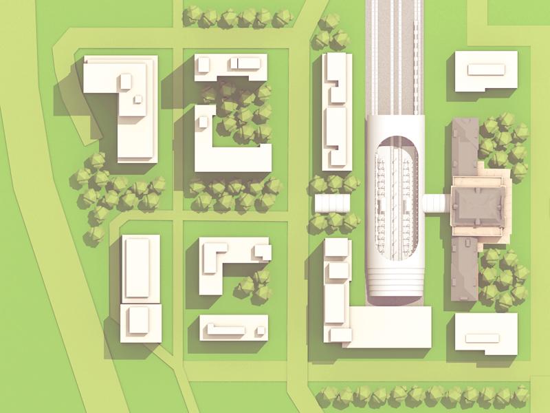 Union Square [Site Plan] footprint site plan plan top view architecture render model c4d cinema 4d buildings