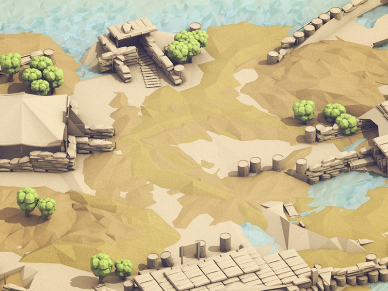 War Camp [02] low poly battleground lowpoly cinema 4d c4d model render 3d camp war camp battle war