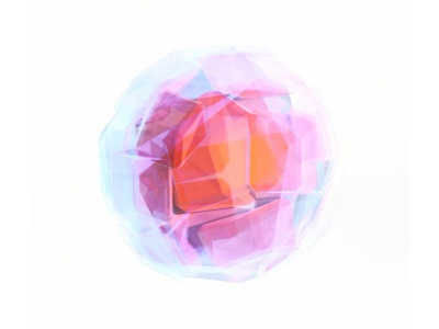 Cellophane Trash Ball cellophane plastic render model c4d 3d abstract clear translucent
