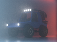 4x4 Truck (Fog Study) 4x4 tires bloom lights octane vehicle car truck 3d fog