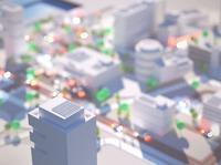 Future City cars future dof blur overhead octanerender octane architecture landscape model cinema 4d 3d c4d render