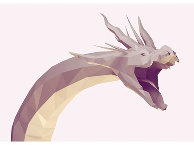 Hydra (WIP) hydra dragon mythical beast 3d render lowpoly low poly evil creature monster c4d