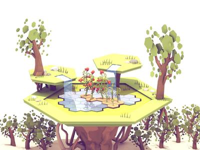 Hexarden (Game Concept Art)