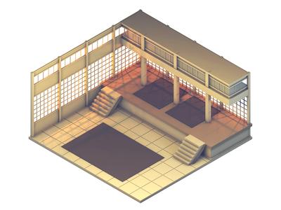 Dojo Level (Concept Art)