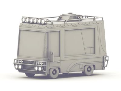 Recreational Vehicle rv 3d render c4d cinema 4d recreational vehicle vehicle adventure adventuremobile model low poly lowpoly
