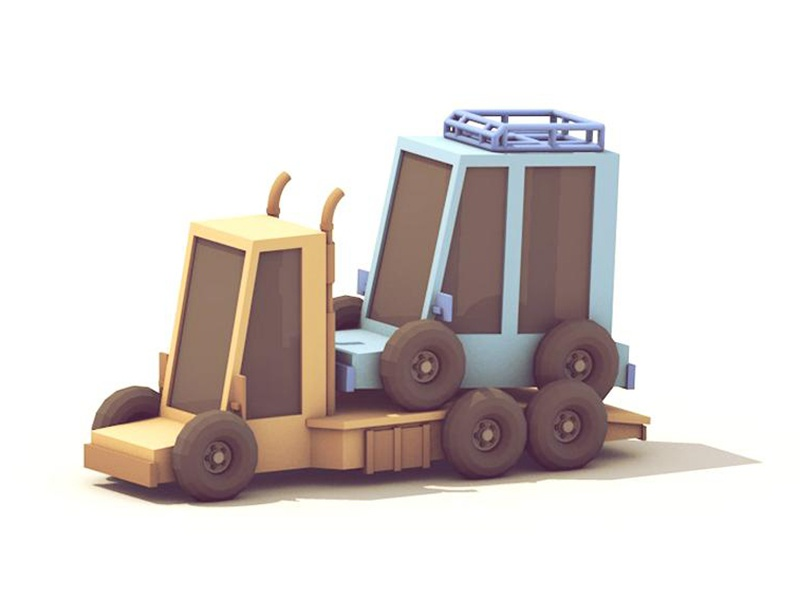 Squishy Vehicles vehicle 3d render lowpoly truck car wheels tire c4d cinema 4d squishy chunky
