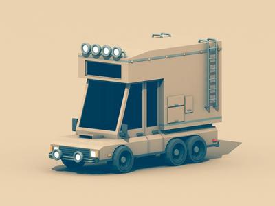 Adventuremobile brush guard bumper adventuremobile 3d render c4d truck camping 6x6 outdoors model fog lights