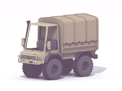 Unimog unimog 3d render c4d lowpoly faceted polygonal truck vehicle